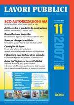 Lavori Pubblici n.11 Novembre 2007