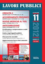 Lavori Pubblici n. 11 - Novembre 2012