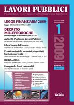 Lavori Pubblici n.1 gennaio 2009