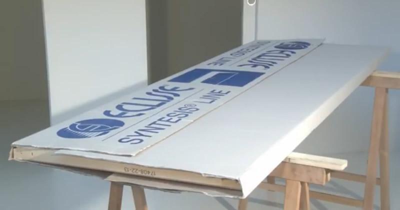 Montaggio pannello porta su telaio porta a battente filomuro ECLISSE Syntesis Line battente