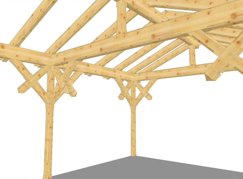Progetto Capriata In Legno arcon dhd vista - tetti e case in legno