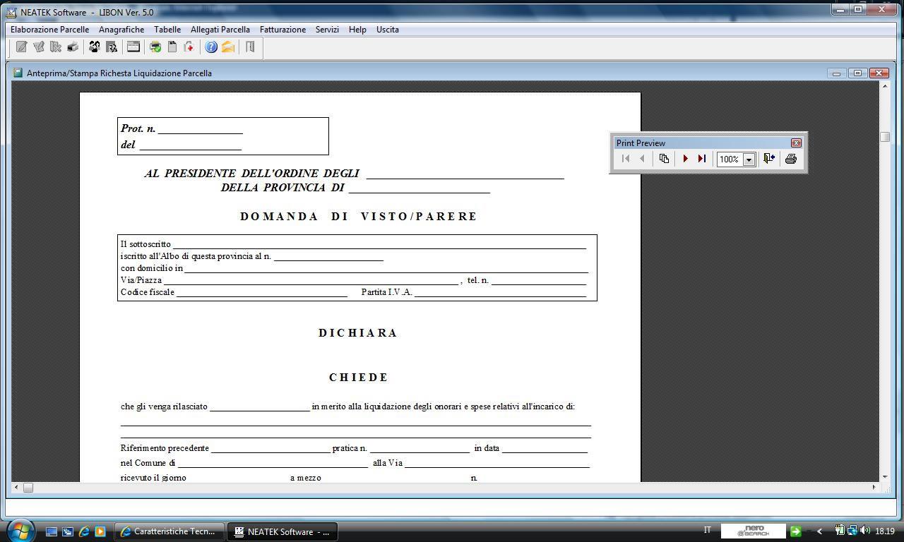 Parcella Architetto Per Ristrutturazione libon 5.0