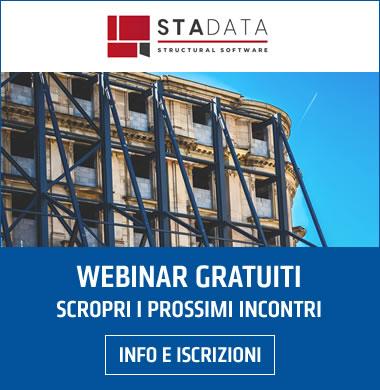 STA DATA webinar gratuiti dedicati al calcolo strutturale