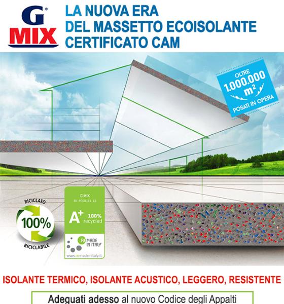Massetto ecoisolante G MIX: leggero, resistente, certificato CAM