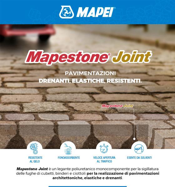 MAPESTONE JOINT. Per pavimentazioni architettoniche in pietra drenanti ed elastiche.