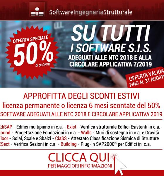 NTC 2018:  50% Sconto su Software Strutturali