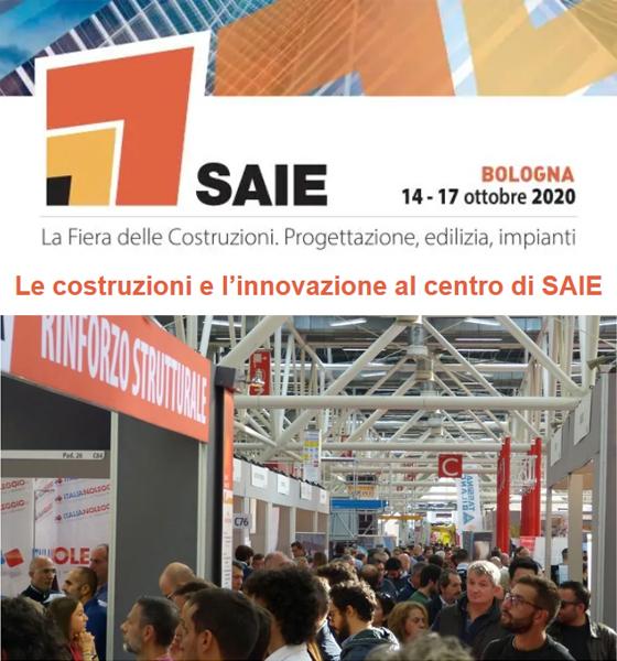 Torna l'appuntamento con SAIE Bologna il prossimo 14-17 ottobre 2020.