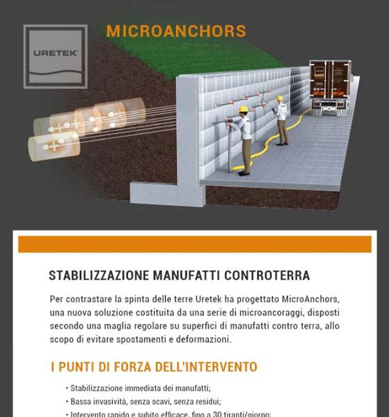 Stabilizzazione di manufatti controterra con microtiranti di ancoraggio