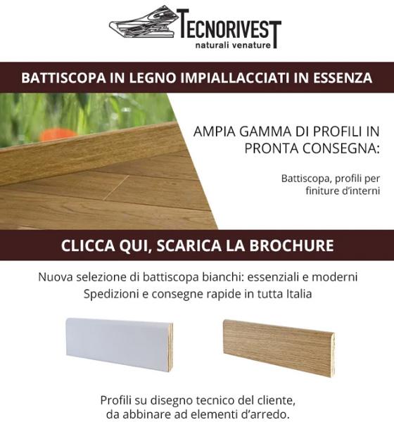 Scopri il battiscopa in legno Tecnorivest