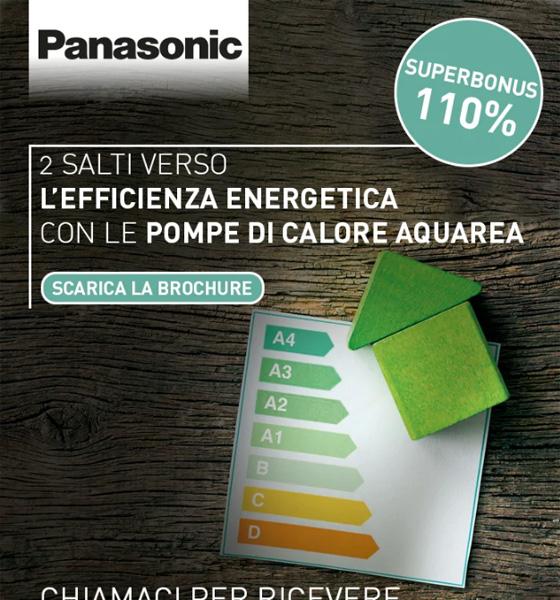 Superbonus 110%: 2 salti verso l'efficienza energetica con Panasonic