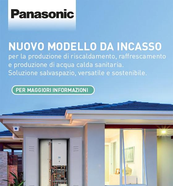 Novità Panasonic: Unità da incasso abbinata alla pompa di calore Aquarea