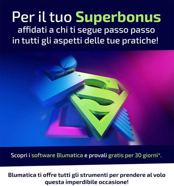 Per il Superbonus affidati ai Supersoftware Blumatica