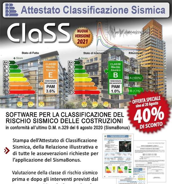 SismaBonus 110%: Offerta speciale Nuovo ClaSS 2021