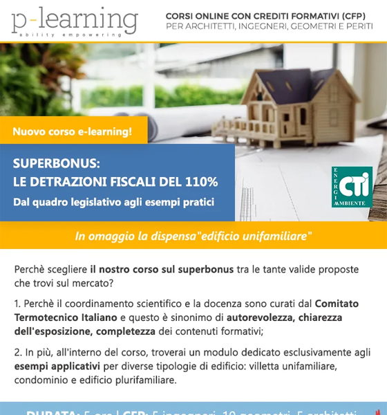 Corso con CFP Superbonus 110% - esempi pratici: dispensa lezione in regalo