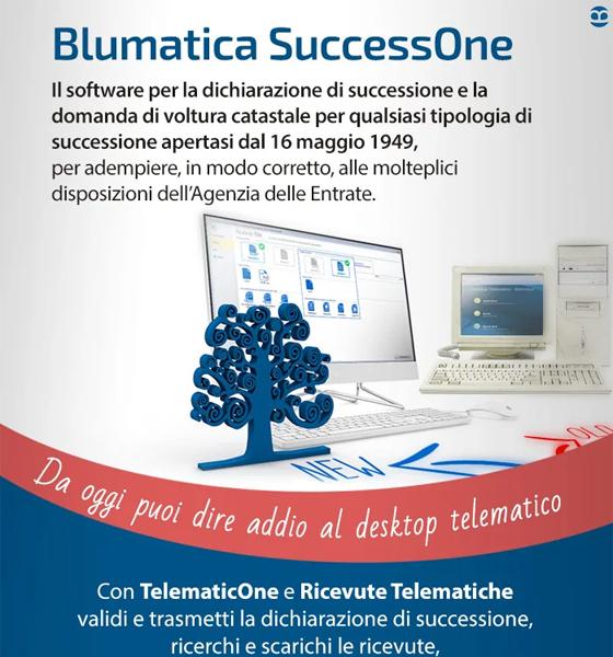 Con Blumatica SuccesiOne puoi dire addio al desktop telematico