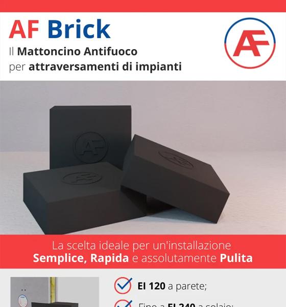 AF Brick, la tua barriera tagliafuoco versatile