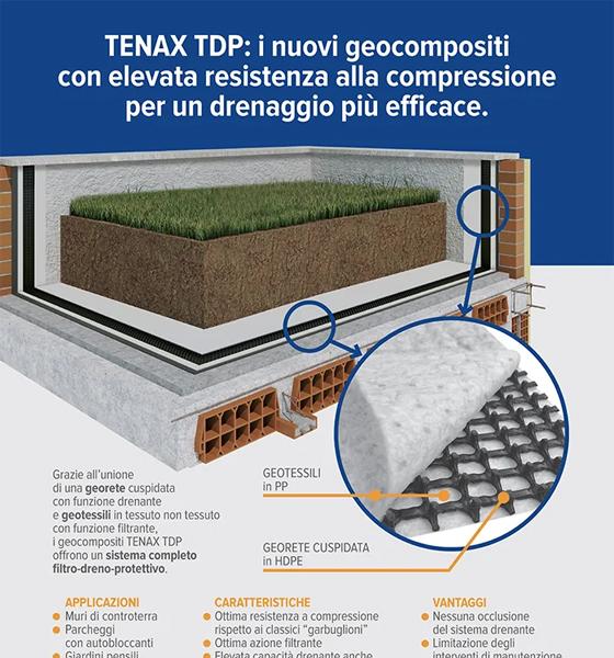 Tenax TDP: i nuovi geocompositi drenanti