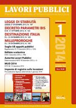Lavori Pubblici - n. 1 -Gennaio 2014