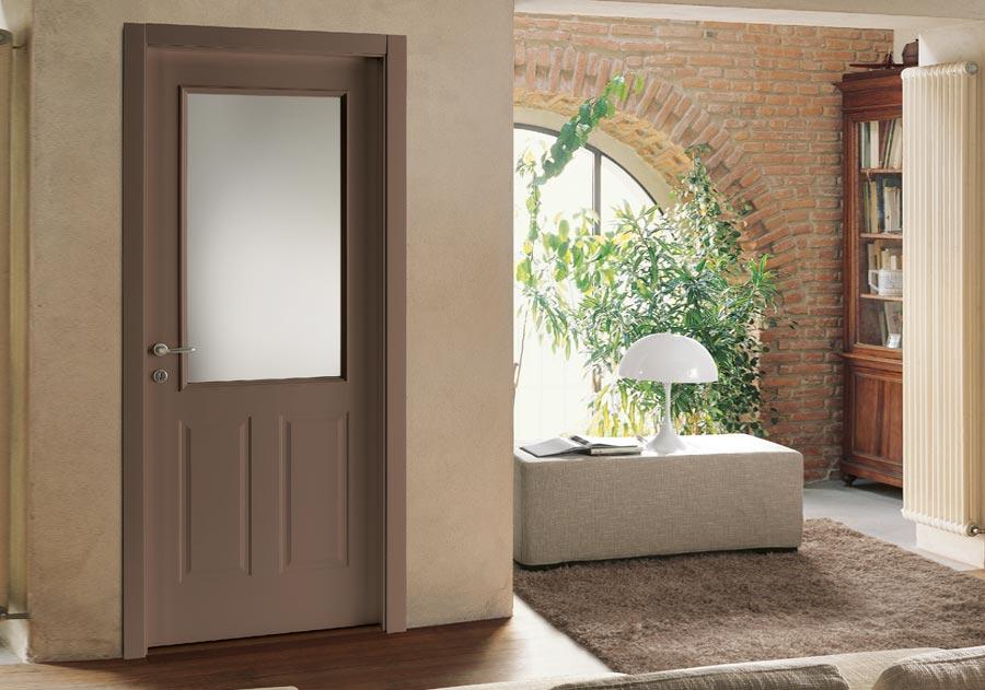 porte in legno e vetro