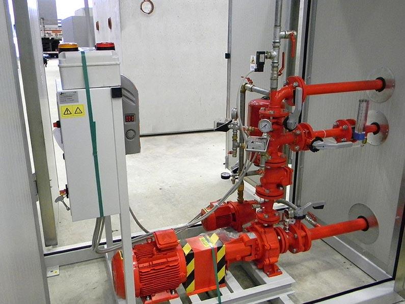 Impianti Antincendio Fissi a Sprinkler o a Idranti, con Vasche Prefabbricate