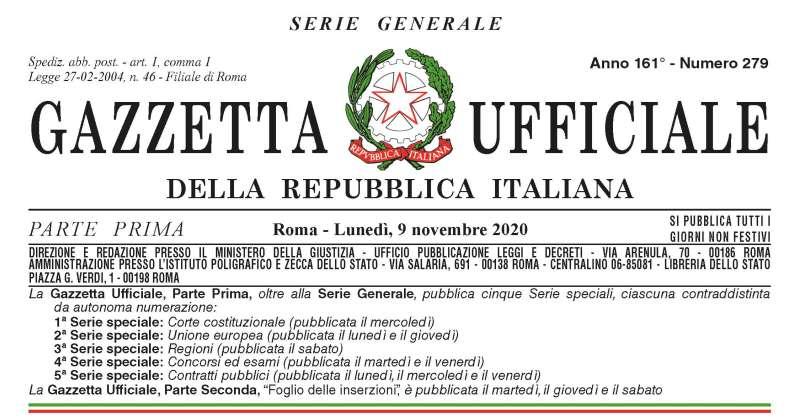 """Coronavirus Covid-19: Pubblicato sulla Gazzetta ufficiale il """"decreto Ristori bis"""". Modifiche al d.lgs. 81/2008"""