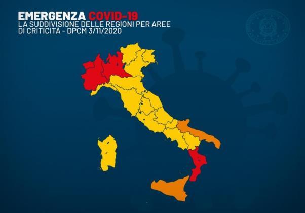 Coronavirus Covid-19: Firmata dal Ministro della Salute l'Ordinanza che divide l'Italia in 3 zone