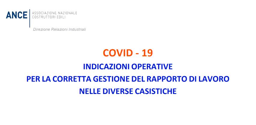 Emergenza Covid-19: dall'Ance le indicazioni operative per le imprese edili