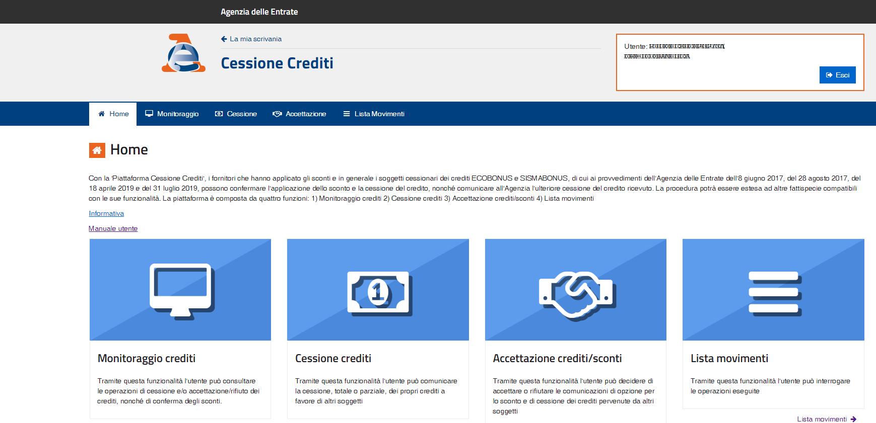 Superbonus: cessione del credito