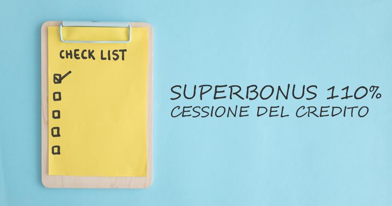 Superbonus 110% e Cessione del credito: tutti i documenti da presentare in banca