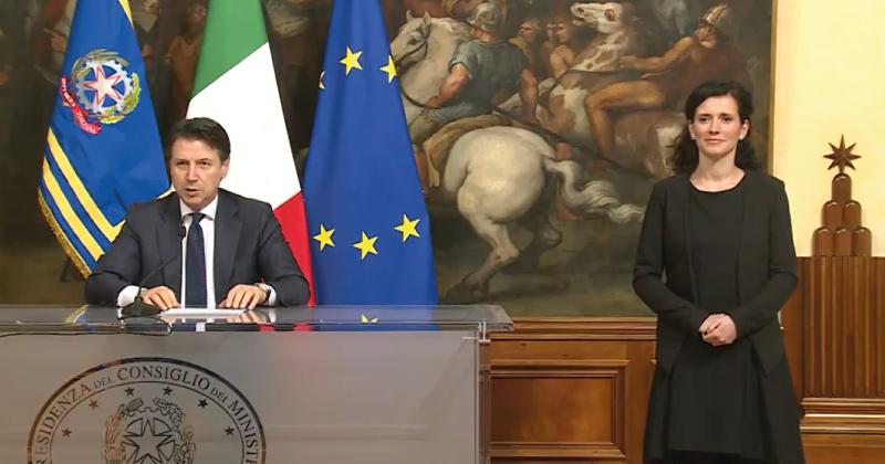 Emergenza Coronavirus Covid-19: il Premier Giuseppe Conte chiude l'Italia