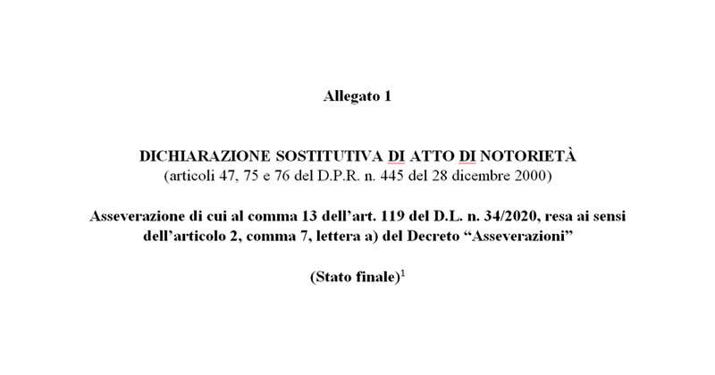 Superbonus 110%: ecco la versione ufficiale del Decreto Asseverazioni e dei due modelli di asseverazione stato finale e avanzamento lavori