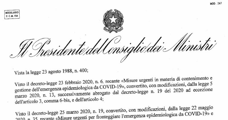 Ultime notizie Coronavirus: ecco il DPCM 3 novembre 200 firmato dal Premier Conte