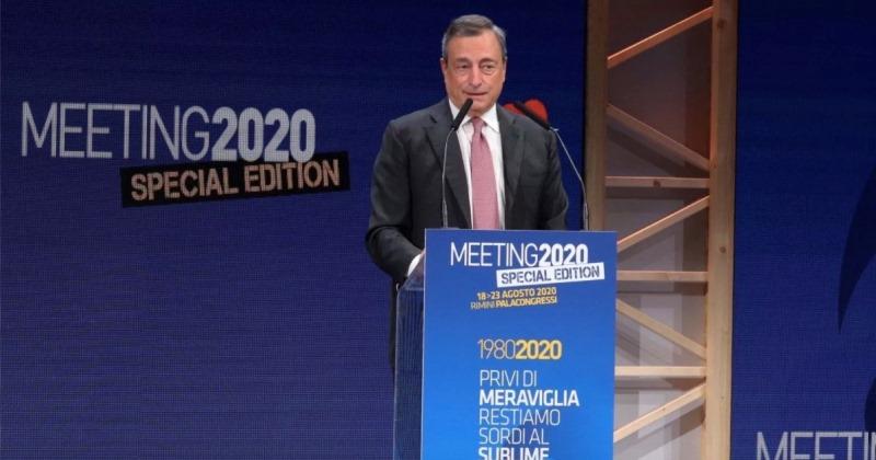 Mario Draghi: Dal Meeting 2020 di Comunione e Liberazione un messaggio in codice al Governo