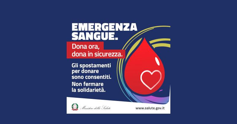 Emergenza Coronavirus COVID-19: donare il sangue è importante