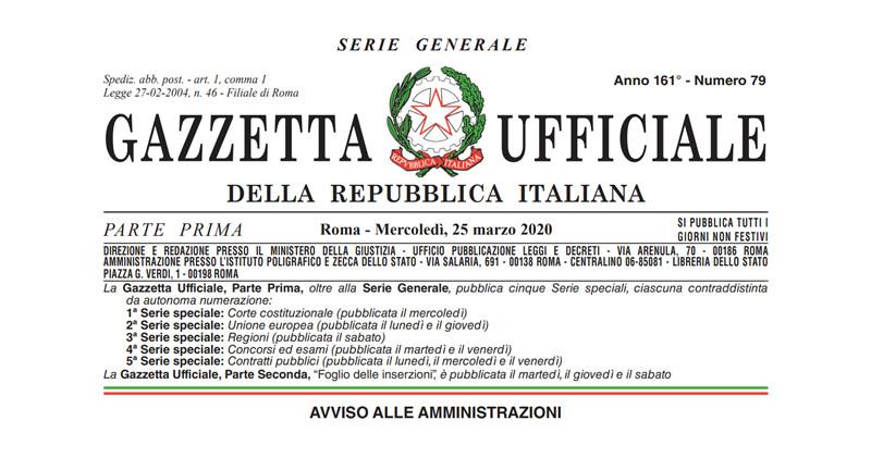 Ultime notizie Coronavirus Covid-19: in Gazzetta Ufficiale il Decreto Legge n. 19/2020 con nuove misure urgenti e sanzioni