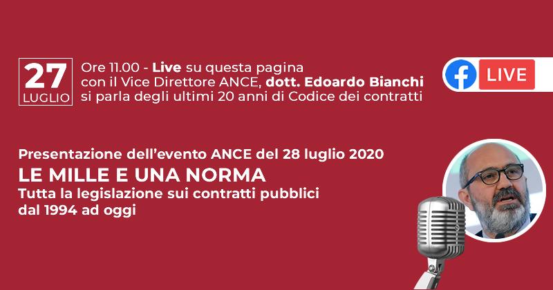 Le mille e una norma: Live con il Vice Presidente ANCE Edoardo Bianchi