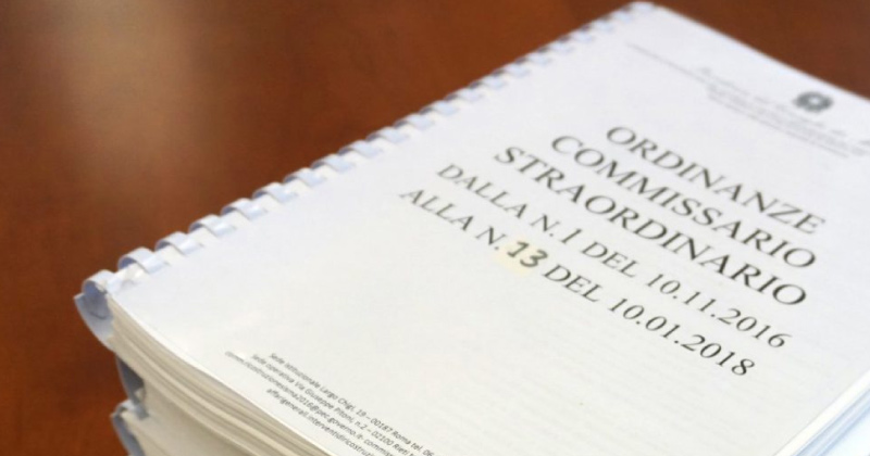 Emergenza Covid-19 e Sisma 2016: approvate due Ordinanze, via libera agli anticipi del 50% ai professionisti