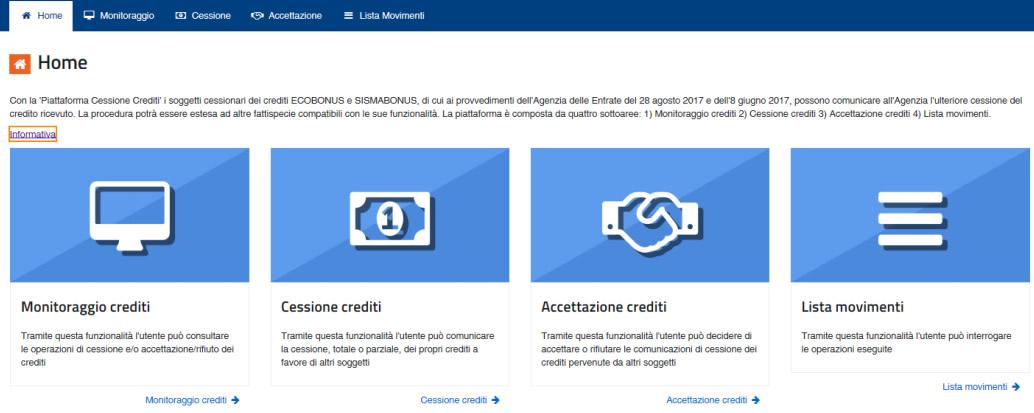 Piattaforma cessione credito Agenzia delle Entrate