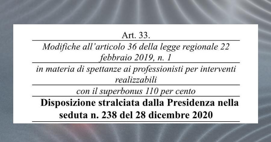 Superbonus 110%: stralciata la proposta di disapplicazione della legge sulla certezza dei pagamenti