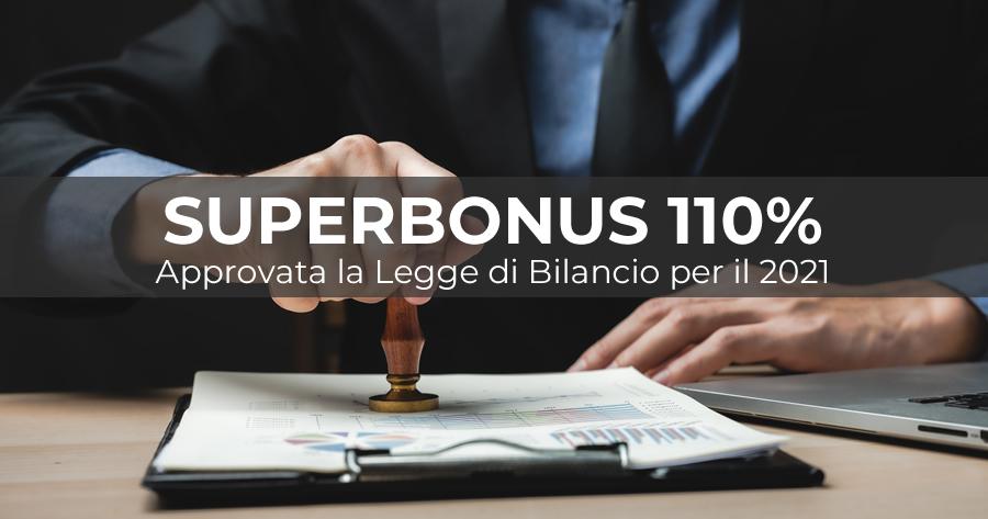 Approvata la Legge di Bilancio 2021: tutte le modifiche al Superbonus 110%