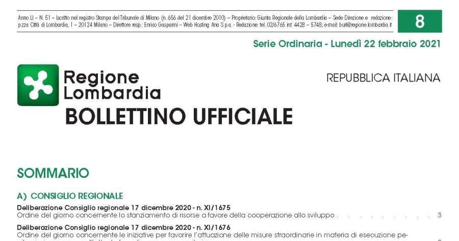 Lombardia: Indirizzi applicazione decreto 30/04/2020