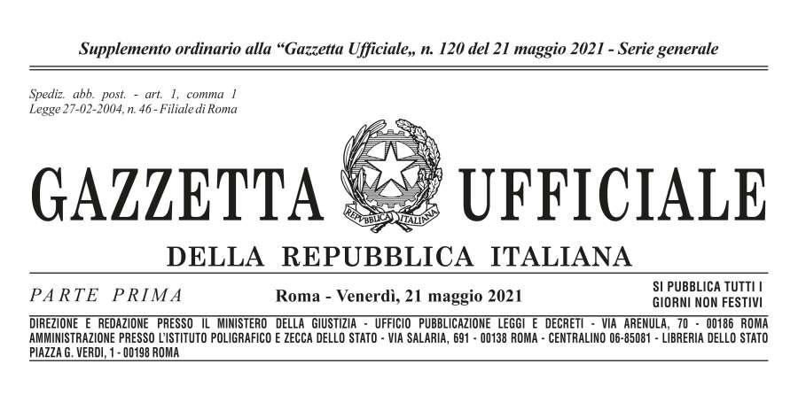 """Gazzetta ufficiale: La legge di conversione del """"decreto sostegni"""""""