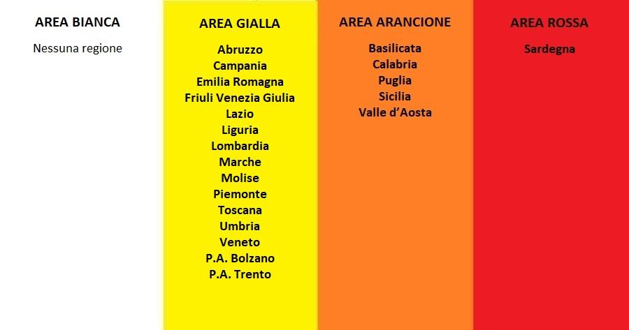 Da lunedì 26 aprile l'Italia si tinge di giallo