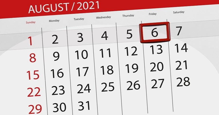 Covid-19: I dati del 6 agosto 2021