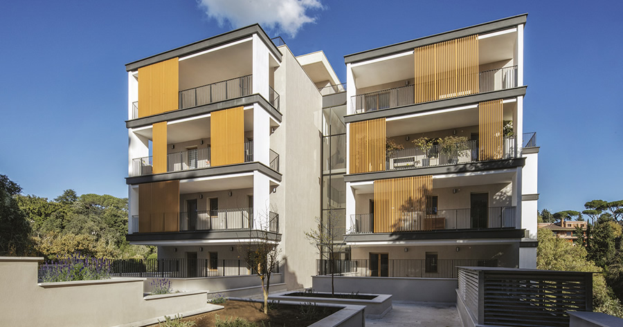 Vincitore del Concorso PREMIO POROTON 2019: Edificio residenziale Rocca di Mezzo