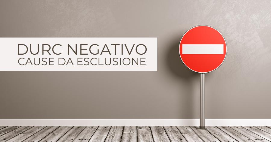 Durc negativo: è sempre esclusione dalle gare?