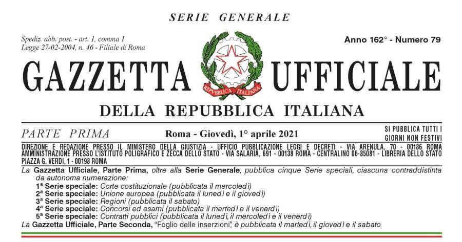 Gazzetta Ufficiale: il testo del decreto-legge n. 44/2021 Covid-19