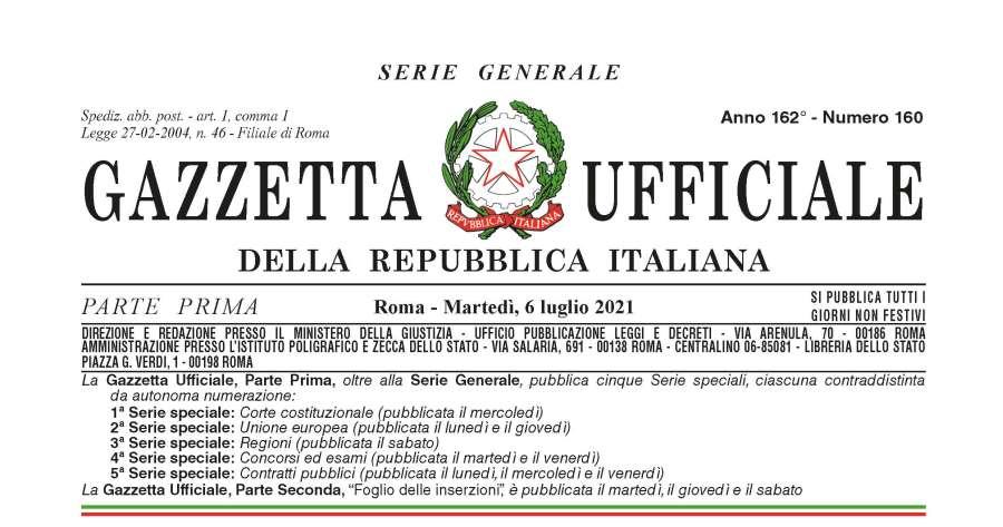 Gazzetta ufficiale e PNRR: Conversione del dl sul fondo complementare