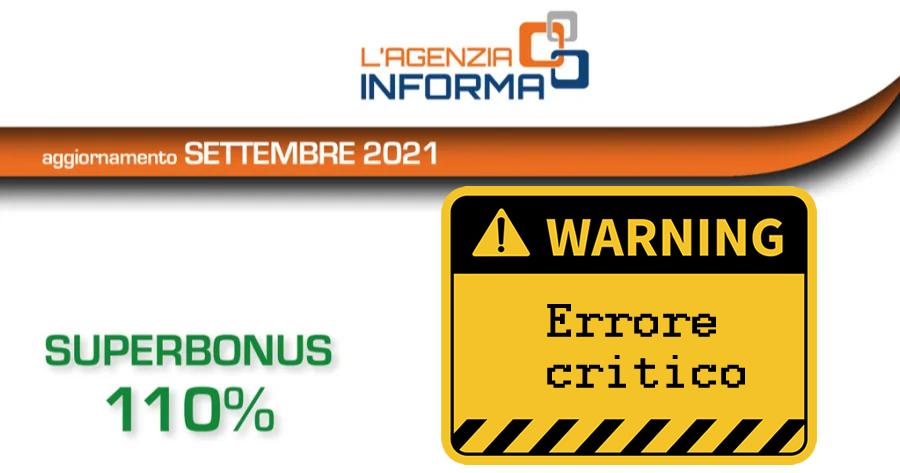 Superbonus 110% e Condomini: palese errore nella guida del Fisco