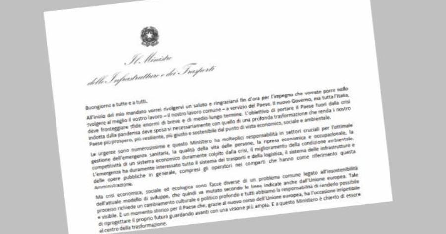 Lettera del Ministro Enrico Giovannini ai dipendenti del MIT